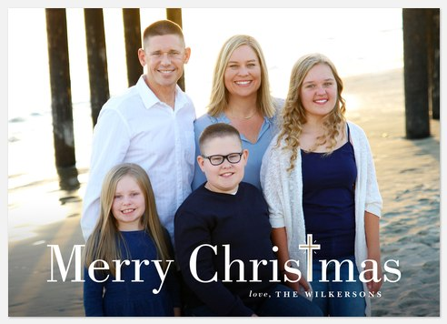 Christmas Cross Holiday Photo Cards