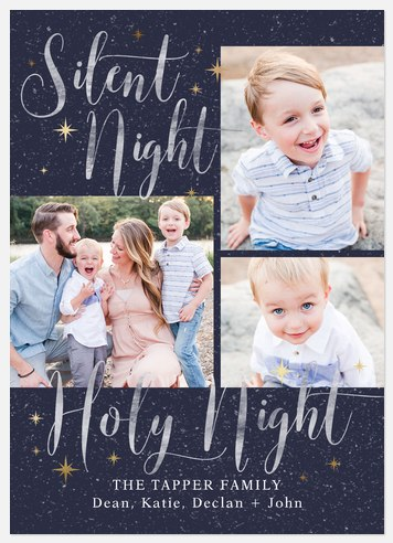Sparkling Night Holiday Photo Cards