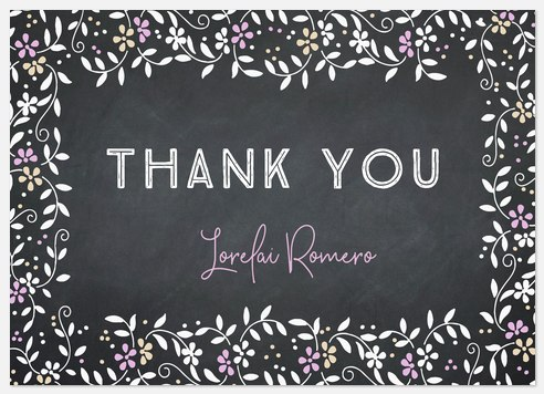 Chalkboard Garden Thank You Cards
