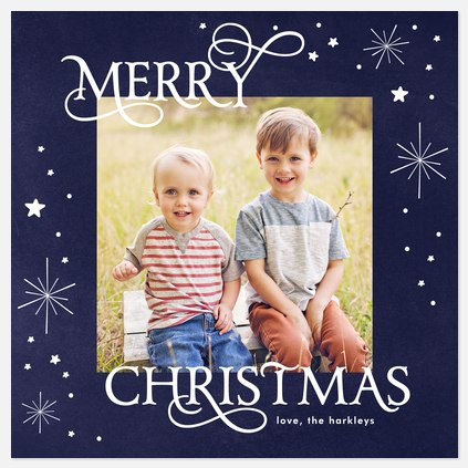 Star-filled Sky Holiday Photo Cards
