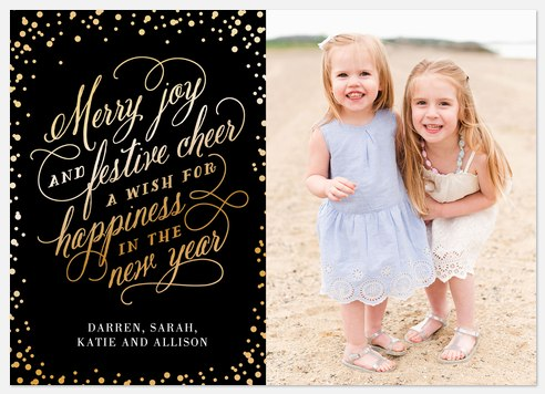 New Year Wish Holiday Photo Cards