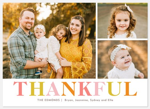 Autumn Thankful Thanksgiving Cards