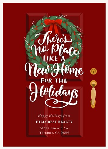 business holiday cards holiday door