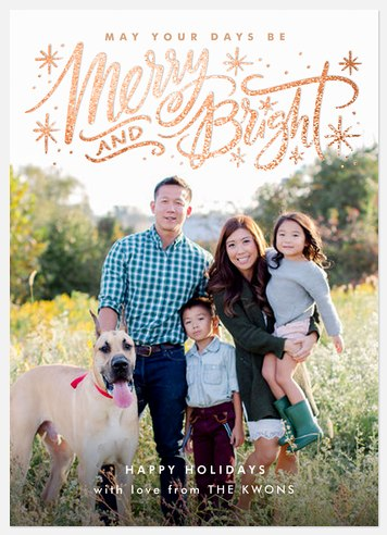 Bright Sparkle Holiday Photo Cards