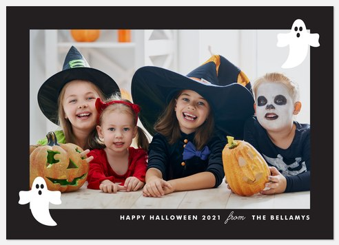 Ghosty Greetings Halloween Photo Cards