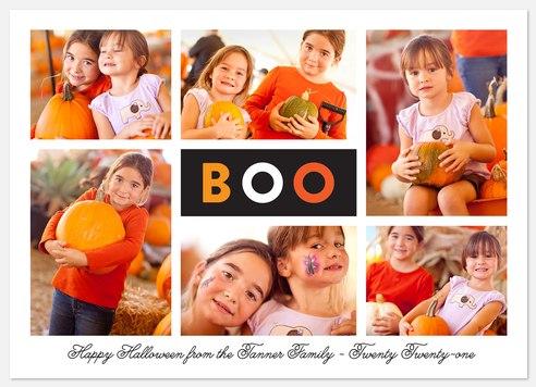 Bright Boo Halloween Photo Cards