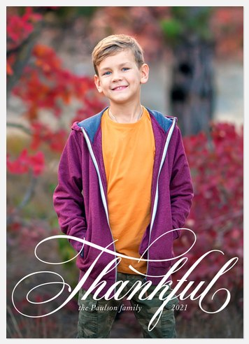 Thankful Thanksgiving Cards