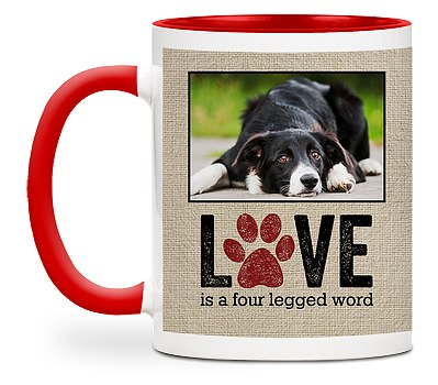 Four Legged Word Custom Mugs