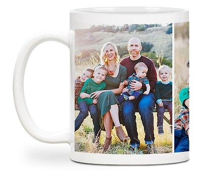 Three Photo Custom Mugs