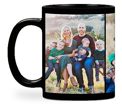 Three Photo Custom Mugs