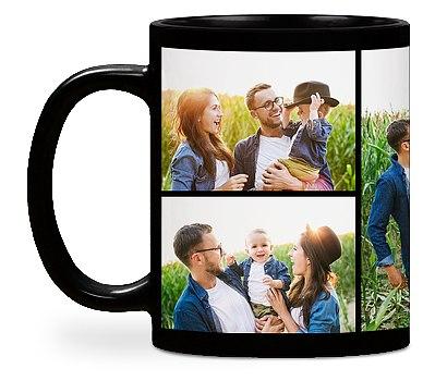 Five Photo Custom Mugs