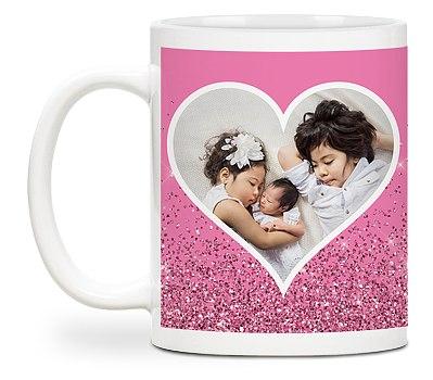 Glamorous Heart Custom Mugs