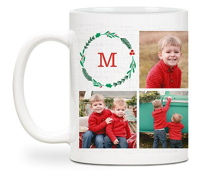 Merry Mix Wreath Custom Mugs