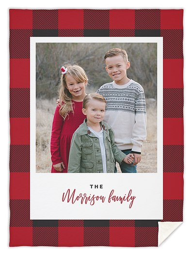 Santa's Plaid Custom Blankets