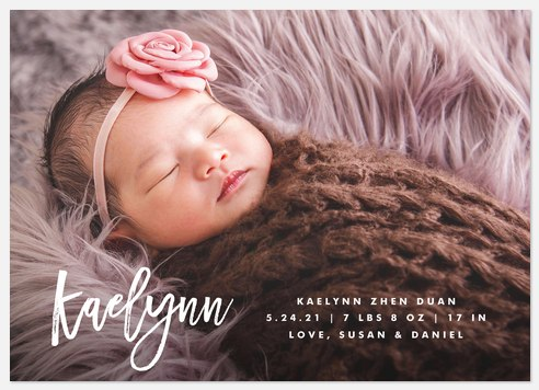 Signature Style Baby Birth Announcements