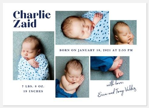 Modern Album Baby Birth Announcements