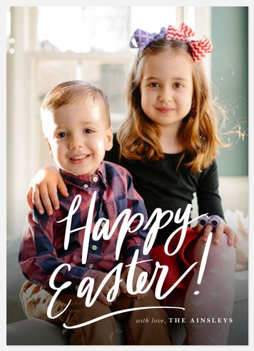 Lettered Easter Easter Photo Cards