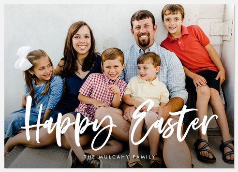 Brushed Lettering Easter Photo Cards