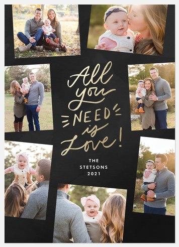 Shimmering Love Valentine Photo Cards
