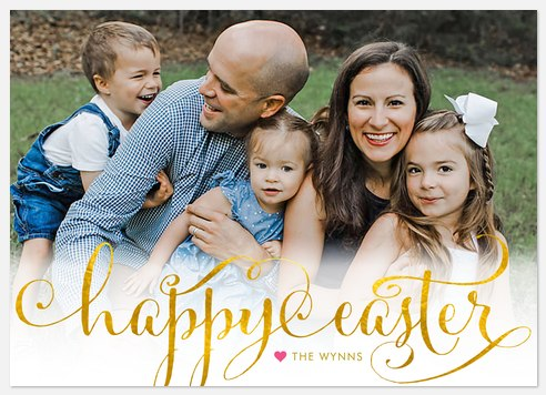 Golden Easter Easter Photo Cards