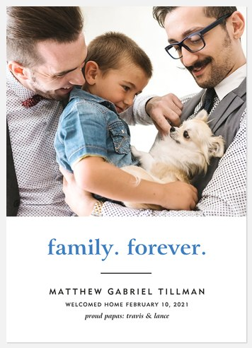 Family Forever Baby Birth Announcements