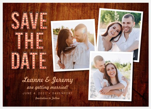 Rustic Marquee Save the Date Photo Cards