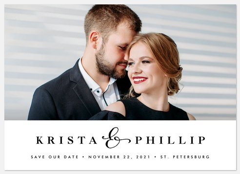 And Forever Save the Date Photo Cards