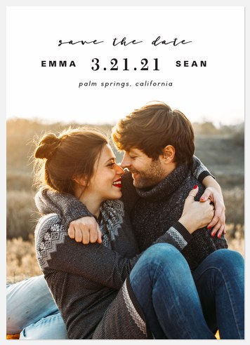 Simply Stated Save the Date Photo Cards