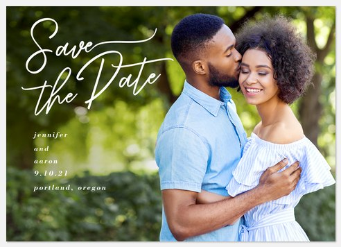 Offset Script Save the Date Photo Cards