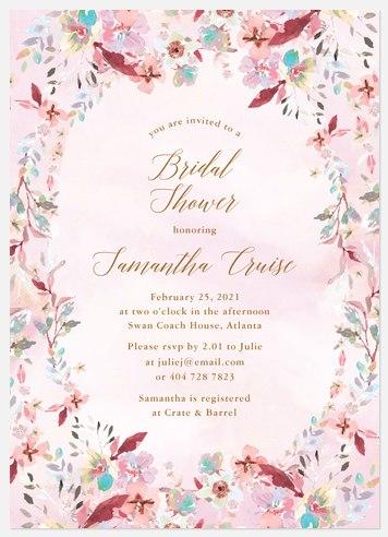 Antique Posies Bridal Shower Invitations