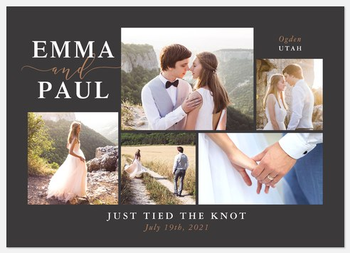 Moments Like These Wedding Announcements