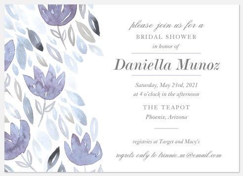 Romantic Watercolor Bridal Shower Invitations