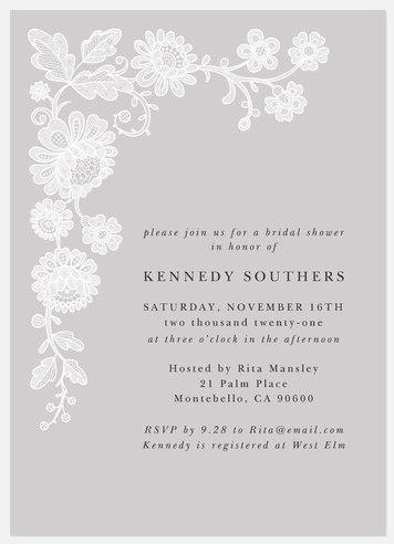 Antique Lace Bridal Shower Invitations