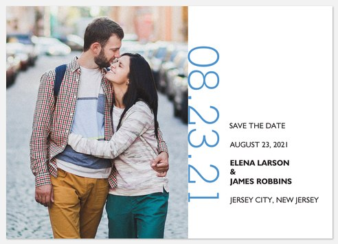 Modernist Date Save the Date Photo Cards
