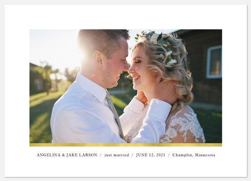 Minimal Metallic Wedding Announcements