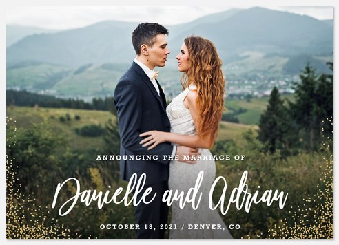 Glittering Corners Wedding Announcements