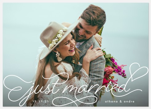 Scripted Heart Wedding Announcements