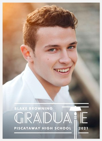 Etched Cap Graduation Cards