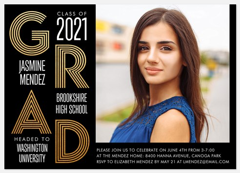 Inline Stack Graduation Cards