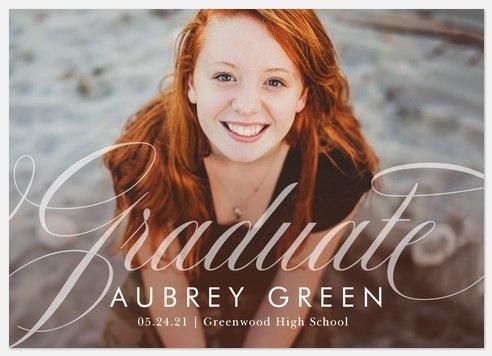 Flourished Lettering Graduation Cards