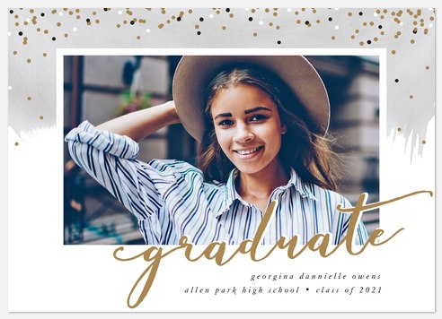 Confetti Toss Graduation Cards