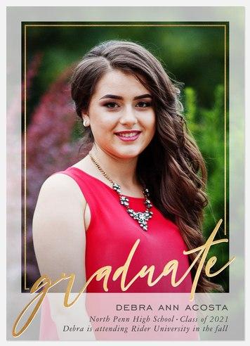 Overlaid Frame Graduation Cards