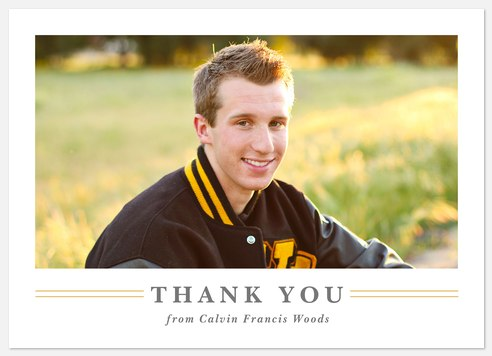 Classic Scholar Thank You Cards