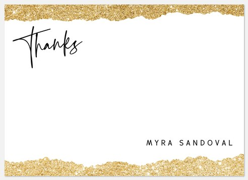 Glittering Paper Thank You Cards