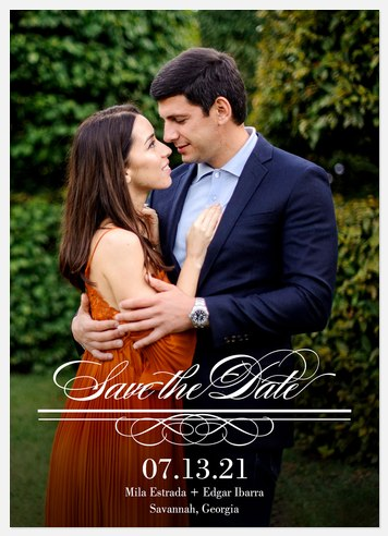 Classically Ornate Save the Date Photo Cards