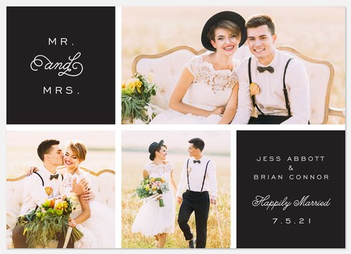 Romantic Curls Wedding Announcements