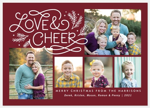 Love & Cheer Holiday Photo Cards