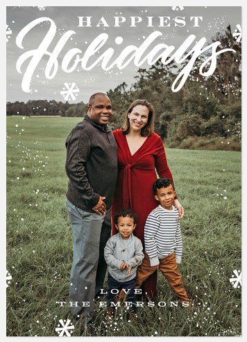 Frosted Flurry Holiday Photo Cards