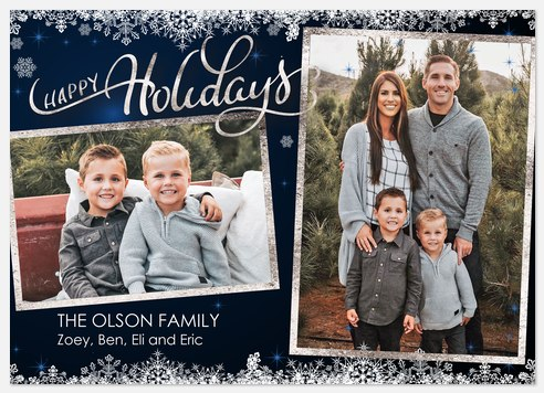 Winter Snow Holiday Photo Cards