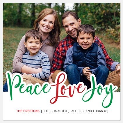Festive Peace Holiday Photo Cards